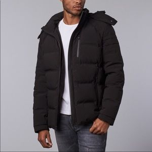 Orobos men  bonded seam moto down jacket black,NWT